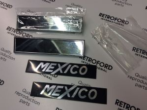 Pair New MK1 Escort Mexico badges